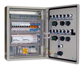 Щит автоматики для управления приточно-вытяжной установкой с водяным калорифером